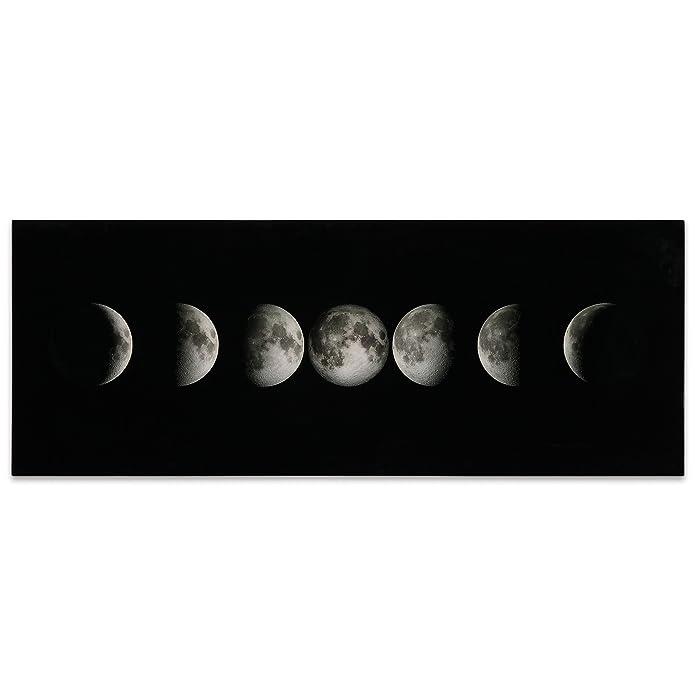 Empire Art Direct Moon Frameless Free Floating Tempered Glass Panel Graphic Wall Art, 24u0022 x 63u0022 x 0.2u0022, Ready to Hang
