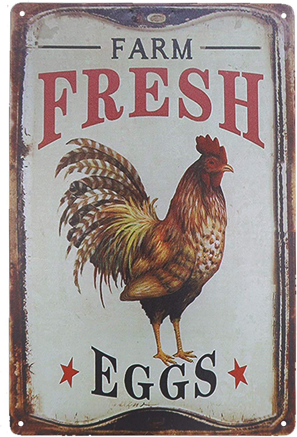 metal retro rustic signs country farm chicken hens metal tin sign