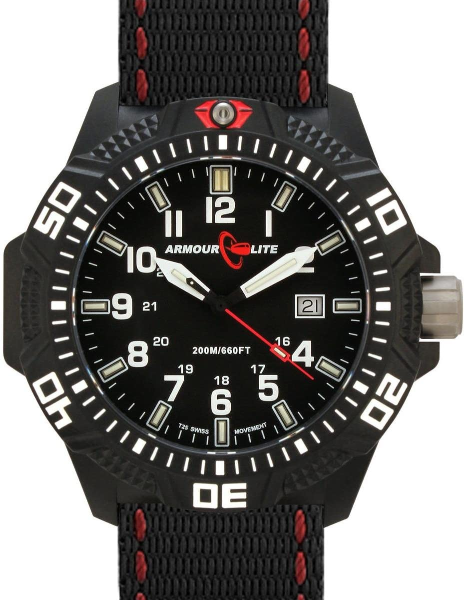 Armourlite Caliber Series Black Dial Watch with Tritium Illumination and Sapphire Crystal AL603
