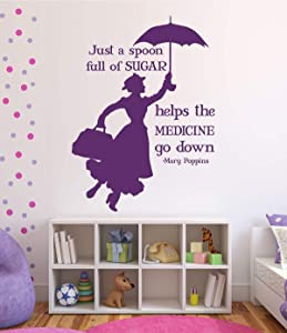 Mary Poppins Wall Decals - Home Decor For the Playroom, Child Room, or Nursery, Wall Art, Party Decorations, Mary Poppins Decal