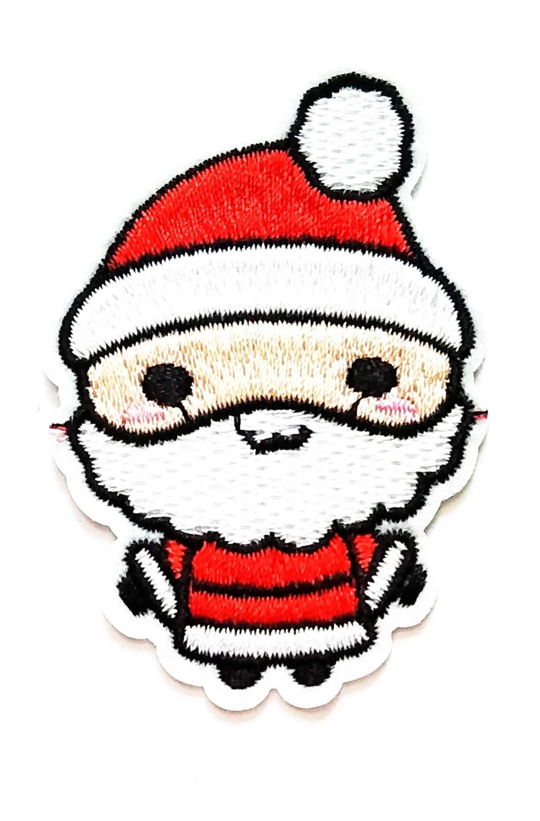 Nipitshop Patches Cute Little Sporty Santa Claus