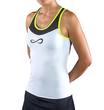 Endless Break Top de Tenis, Mujer, Blanco, S: Amazon.es: Deportes y aire libre