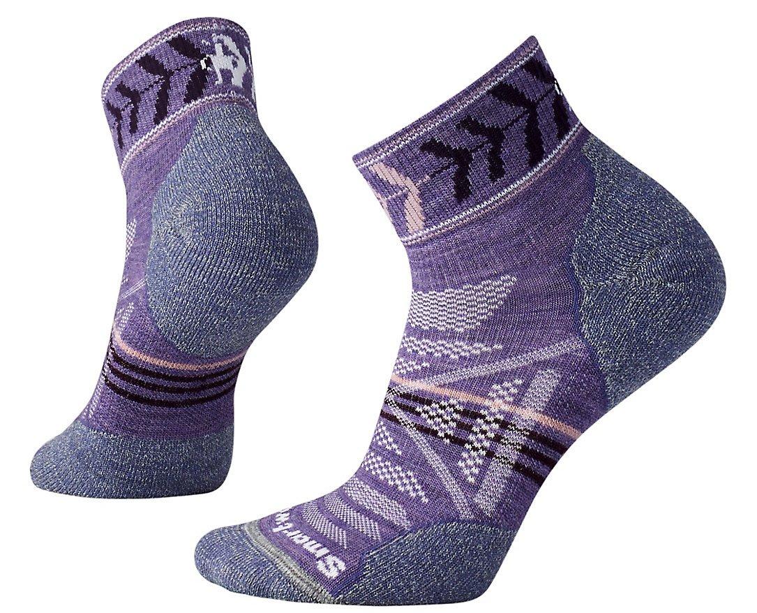 Smartwool Women's PhD Outdoor Light Pattern Mini Socks (Lavender) Medium