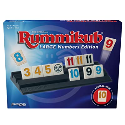 Pressman Rummikub Large Numbers Edition - The Original Rummy Tile Game: Toys & Games