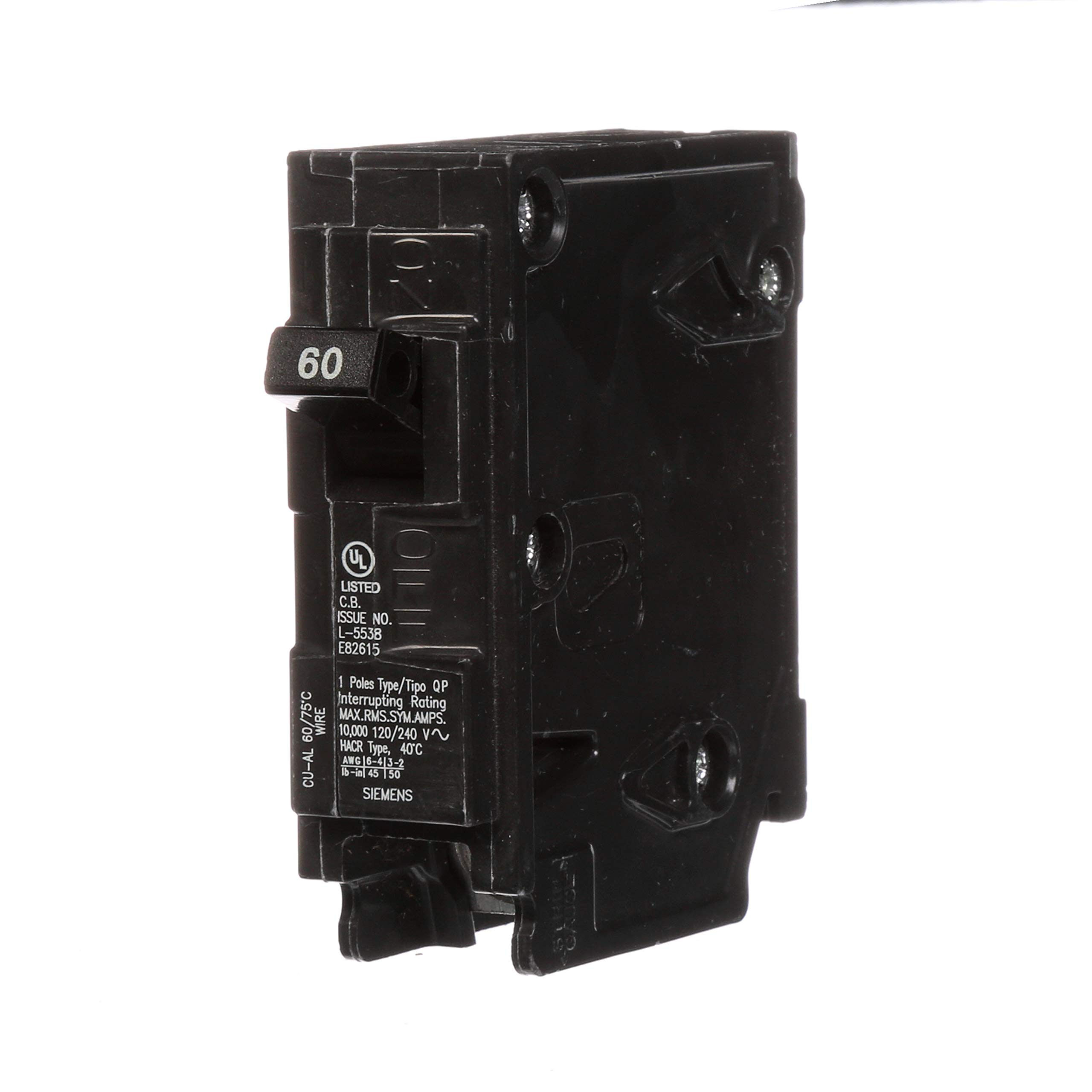 Siemens Q160 60-Amp 1 Pole 120-Volt Circuit Breaker