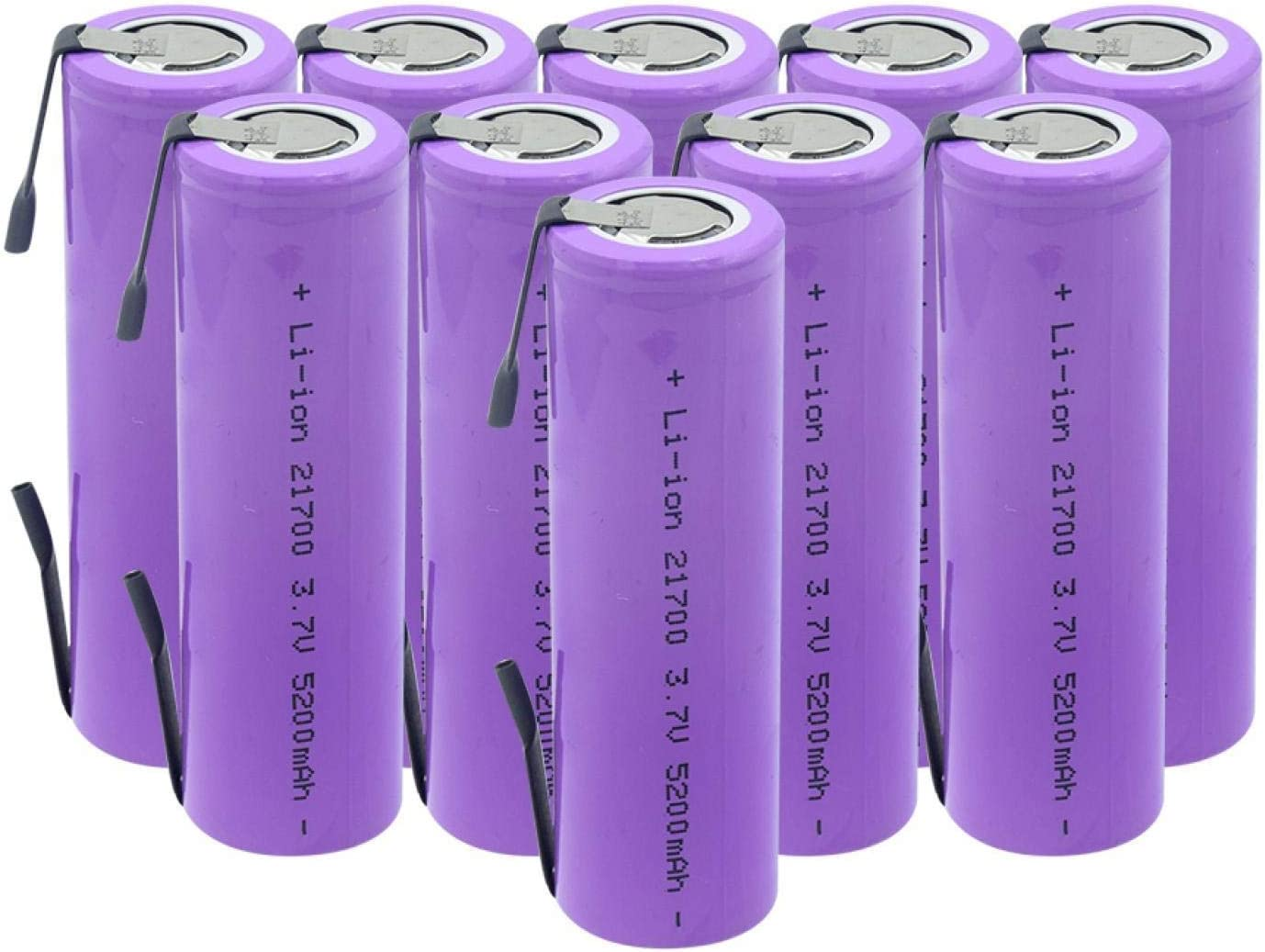 RECORDARME Rechargeable 21700 Lithium Battery High Drain 20a 3.7v 5200mah+ Diy Nicke, for Flashlight Headlamp Power Bank Toy 4PCS 4PCS