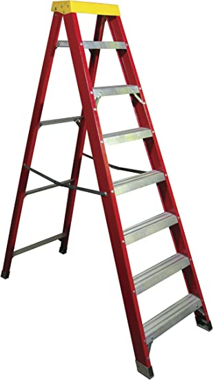 Prodec - Escalera de 8 peldaños (aluminio y fibra de vidrio): Amazon.es: Bricolaje y herramientas