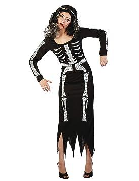 Generique - Disfraz de Esqueleto para Mujer S/M: Amazon.es ...