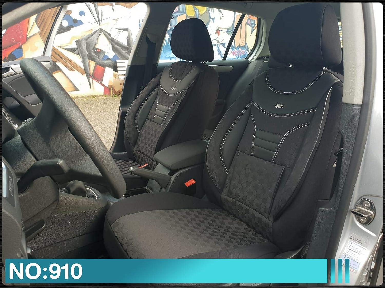 Ma/ß Sitzbez/üge kompatibel mit Toyota Proace II Fahrer /& Beifahrer ab BJ 2016 Farbnummer 910