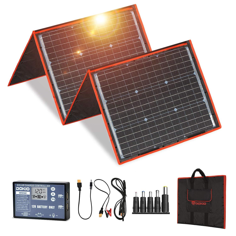 DOKIO 150 watts Solar Panel Kit Portable Folding Monocrystalline