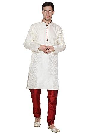 18969d816c3c Mens Kurta Pajama Indian Wedding Wear Mens Ethnic Traditional Long Sleeve  Kurta Pajama -M Off