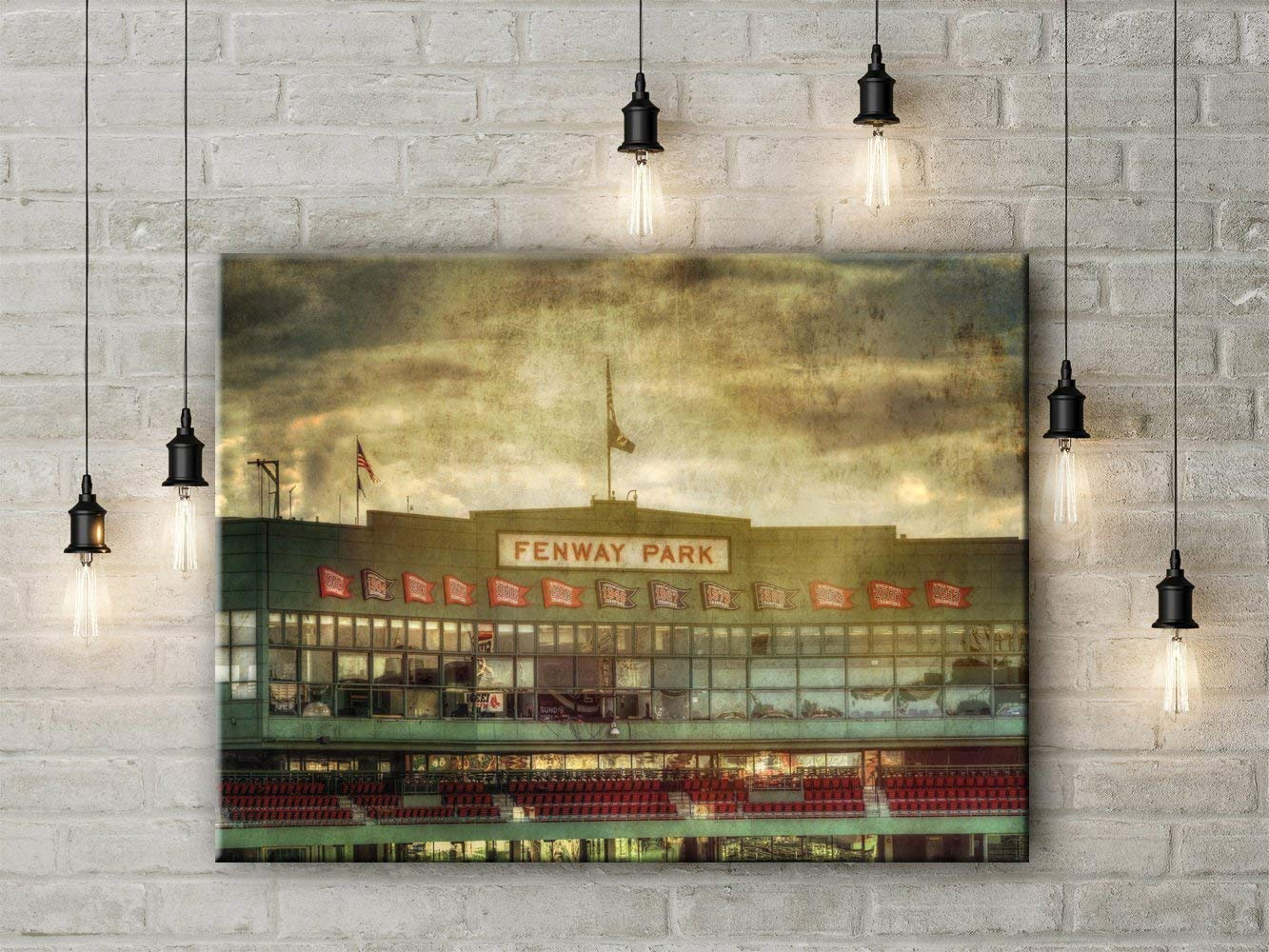 Fenway Park Home of the Red Sox Canvas Wall Art 12x18 to 24x36