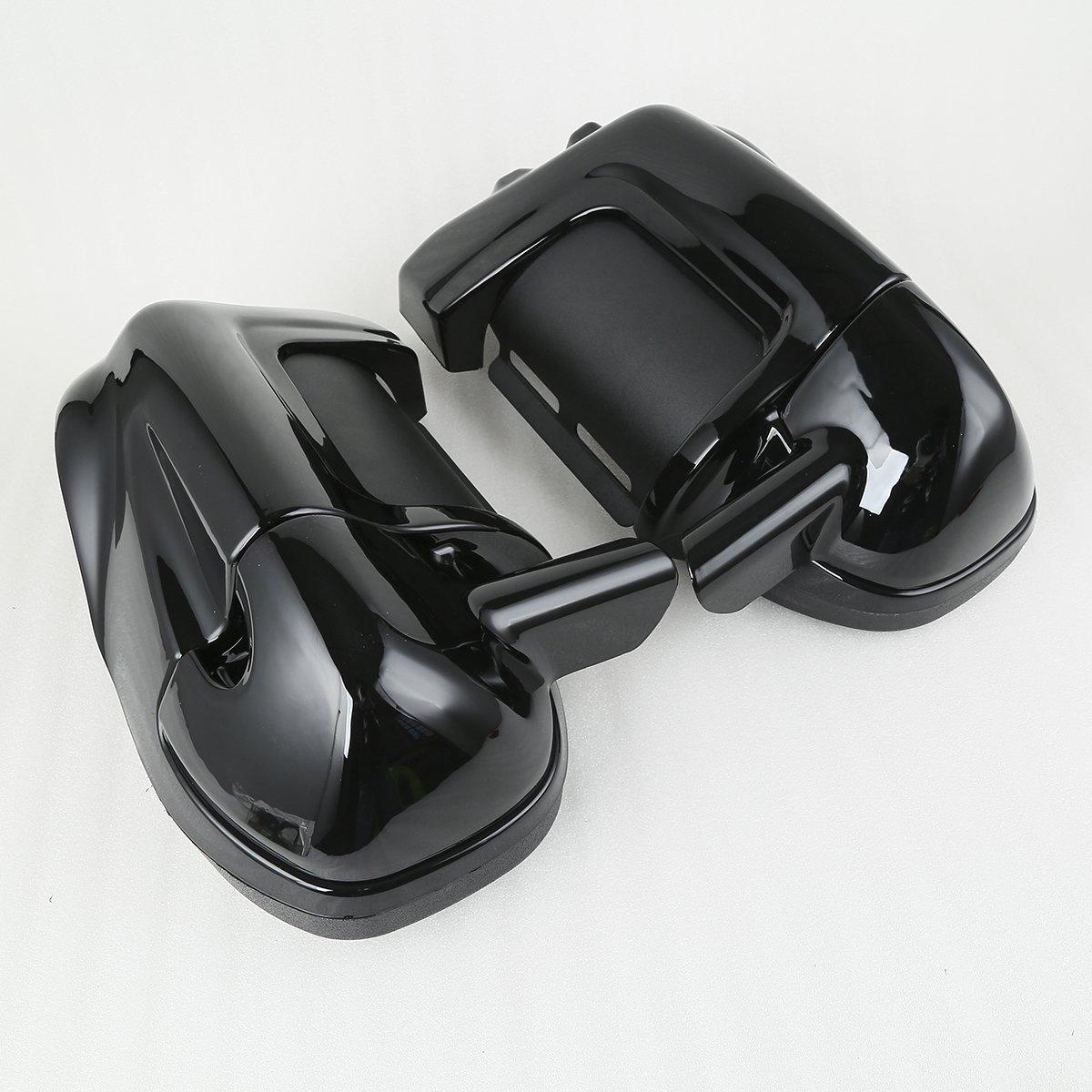 XMT-MOTO Black Lower Vented Leg Fairings Cap Glove Box For Harley-Davidson Touring Models 1983-2013 by XMT-MOTO (Image #9)
