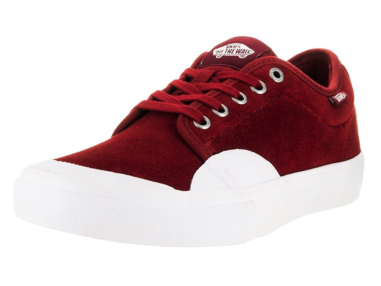 competitive price 8af0b 377eb Amazon.com   Vans Men s Chukka Low Pro (Rubber) Red Dahlia White Skateboarding  Shoes (Medium   7.5 D(M) US)   Fashion Sneakers