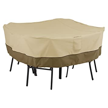 Classic Accessories Veranda Patio Square Table And Chairs Cover For 4 Chair    Durable And