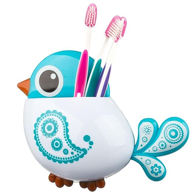 3 opinioni per Zooky® Blu Porta dentifricio e spazzolino da parete in plastica con bicchiere /
