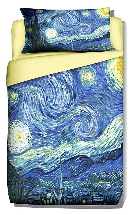 Copripiumino Van Gogh.Deco Italia Set Copripiumino Copriletto Van Gogh Notte Stellata