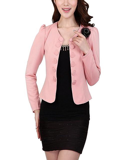 productos de calidad Mitad de precio buena calidad Mujer Blazer Otoño Elegantes Moda Joven Doble Botonadura ...