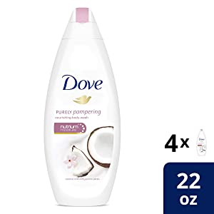 Dove Purely Pampering Coconut Milk with Jasmine Petals Body Wash 22 Fl Oz (Pack of 4)