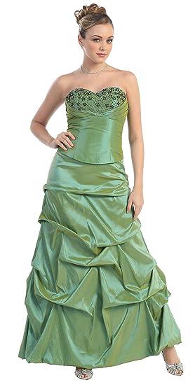 Nachtigall+Lerche Ball Gown Evening Dress Bridesmaid Dress XXL Size - Green - UK XL