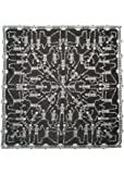 """Halloween Skeleton Dance Poncho by Heritage Lace, 58"""" x 58"""", Pewter Lace, 1 Size Fits Most"""
