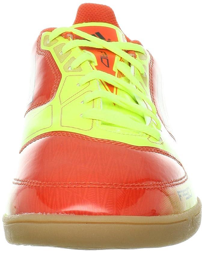 Adidas - Lionel Leo Messi - Zapatillas Botines de Fútbol Hombre - F10 - F50 IN - Naranja, Color, Talla 47 1/3: Amazon.es: Zapatos y complementos