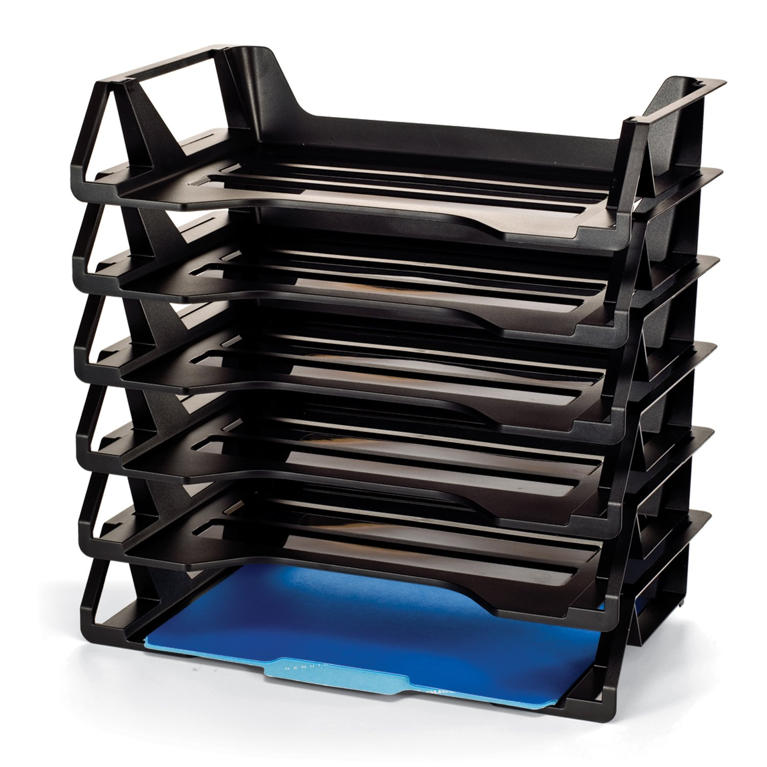 Officemate OIC Achieva Side Load Letter Tray, Recycled, Black, 6 Pack (26212) by Officemate