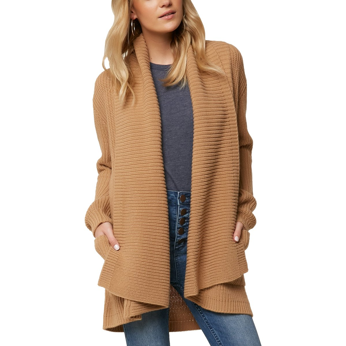O'Neill Women's Galley Cardigan Sweater, Camel, L