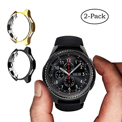 Bangyee Compatible Samsung Gear S3/ Galaxy Watch 46mm Case, [2-Pack] Soft TPU Protective Bumper Shell Cover Accessory for Gear S3 Frontier/ S3 ...