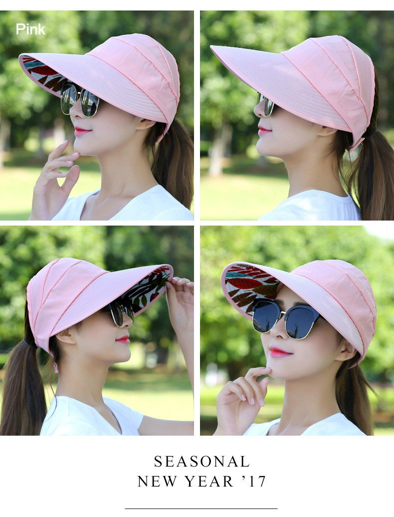 Brolux(TM) 1 PC Summer Hats For Women Folding Foldable Uv Uv Uv Protection Sun Hat Visor Suncreen Floppy Cap Chapeau Femme Outdoor Beach Hat New [Pink ] 2a12eb