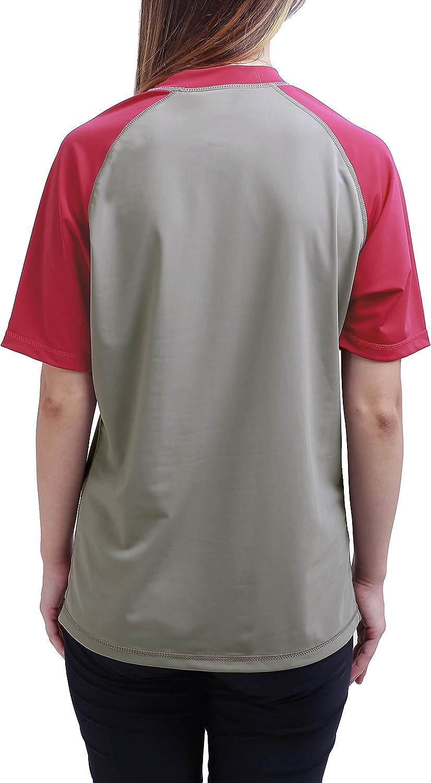 Big Girl Rash Guard Short Sleeve Swim Shirt UPF50 UV Sun Protection for 10-18Y