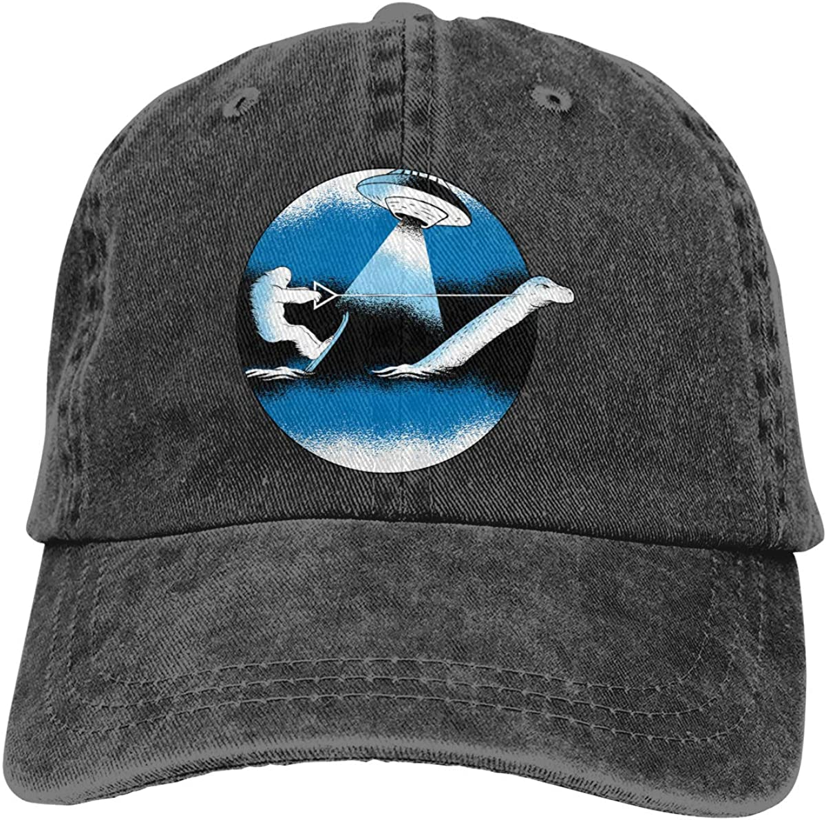 Unisex Bigfoot Water Ski with Loch Ness Vintage Washed Dad Hat Cool Adjustable Baseball Cap