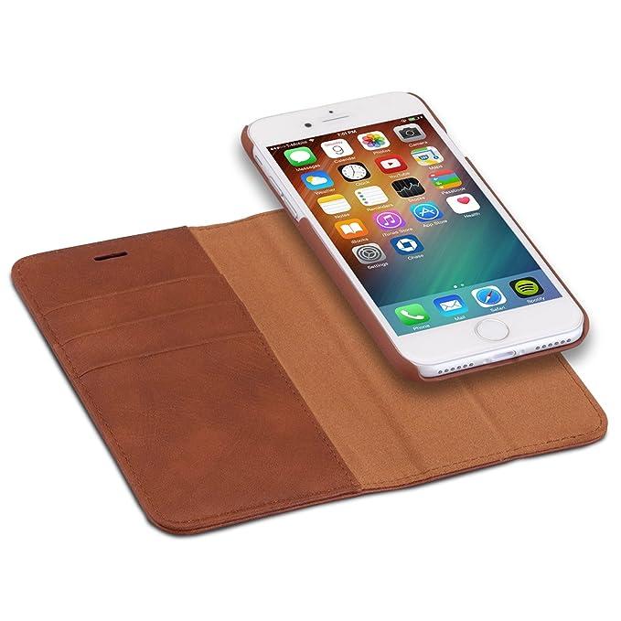 """24 opinioni per Custodia iPhone 8 /Custodia iPhone 7 Marrone- CASEZA """"Zurich"""" Rimovibile a"""