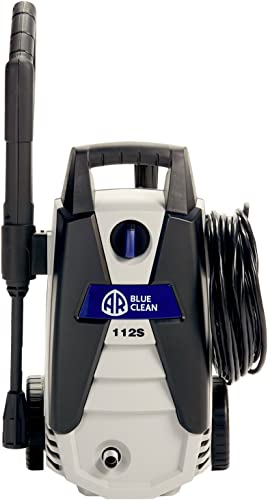 Annovi Reverberi, AR112S AR Blue Clean, 1, 500 psi Electric Pressure Washer, Nozzles, Spray Gun, Wand, Detergent Bottle Hose
