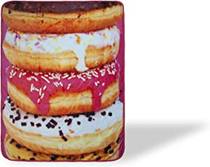Donuts Fleece Throw Blanket   Large Soft Fleece Donut Blanket   Food Blanket Soft Blankets And Throws   Officially Licensed Donut Throw Blankets   Measures 60 x 45 Inches