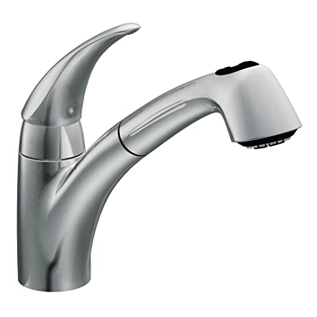 Moen 7560C Extensa One Handle Low Arc Pullout Kitchen Faucet, Chrome