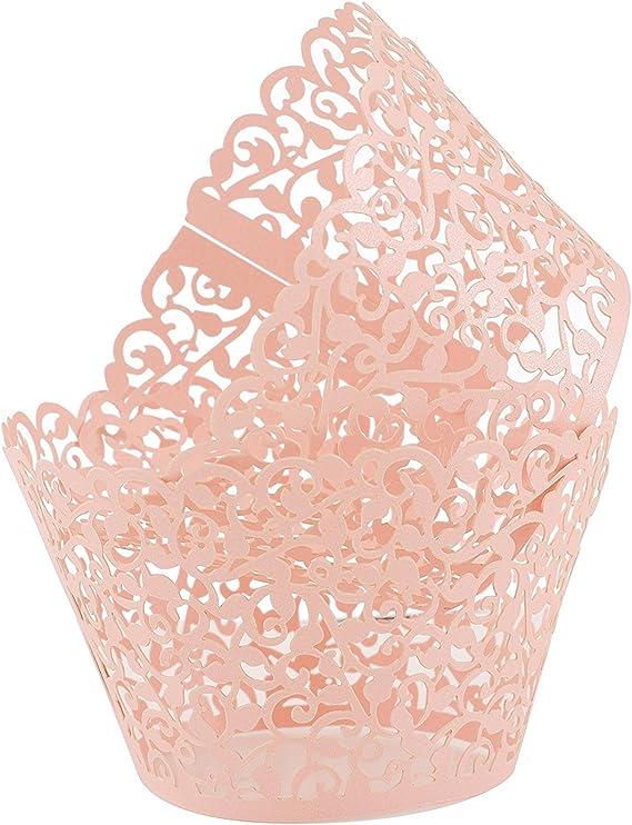 culpitt cupcake cases lace printed laser cut White Daisy