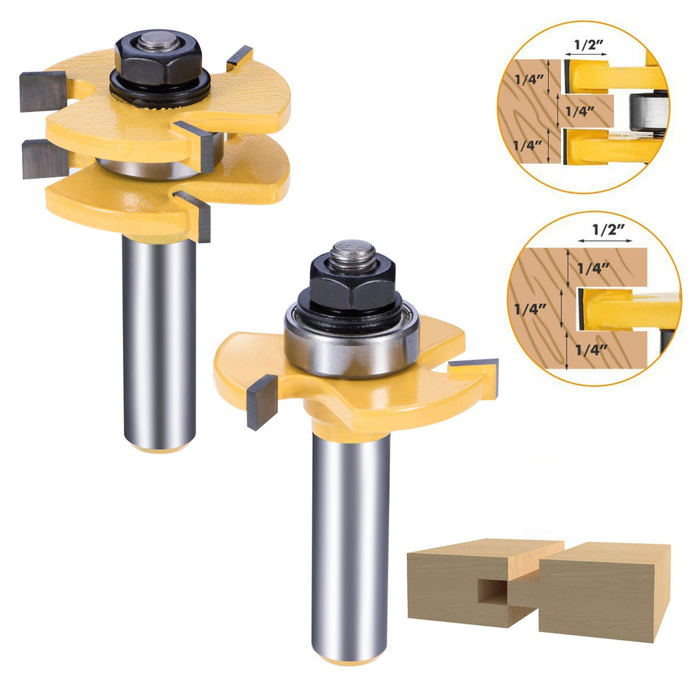 Asel Tongue And Groove Set, Router Bit Set, Wood Door