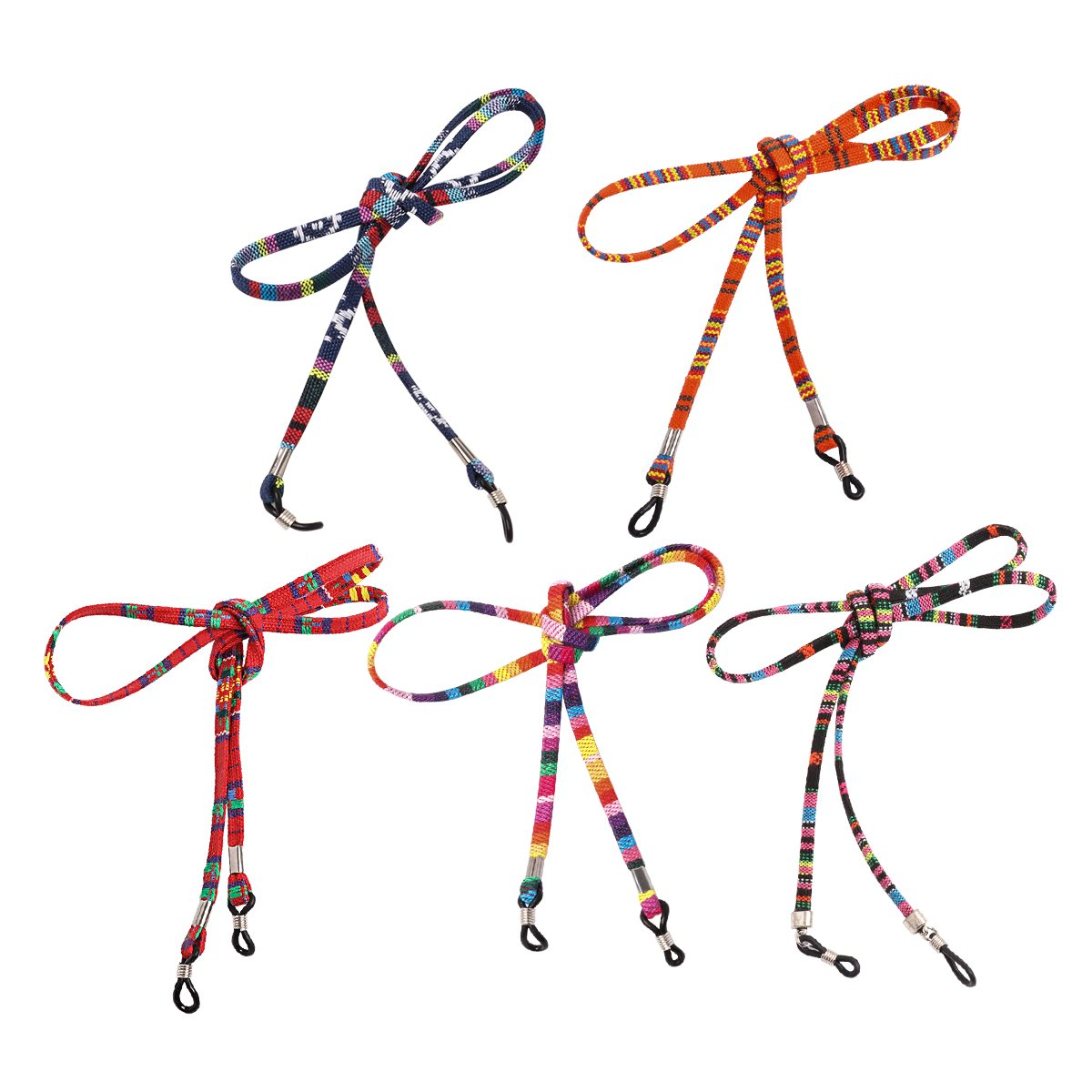 YiZYiF 5pcs Multicolor Eyewear Retainer Sunglasses Neck Cord Safety Strap Holder Eyeglass Glasses String Lanyard Multicolor Type A