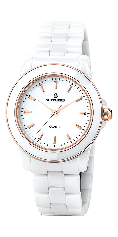 SHEPHERD Keramik Damen Armbanduhr 60233