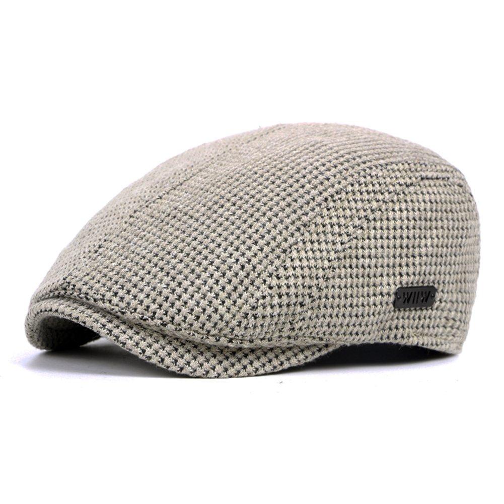 Anshili Men's Adjustable Winter Knitted Hats (Grey) ShiAn