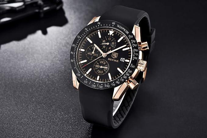 Orologio Uomo BENYAR moda uomo al quarzo cronografo impermeabile orologi business