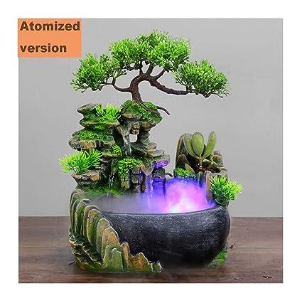 con un Rico árbol Fuente de Fuente de rocalla Agua Adornos de Mini pecera Decoración de