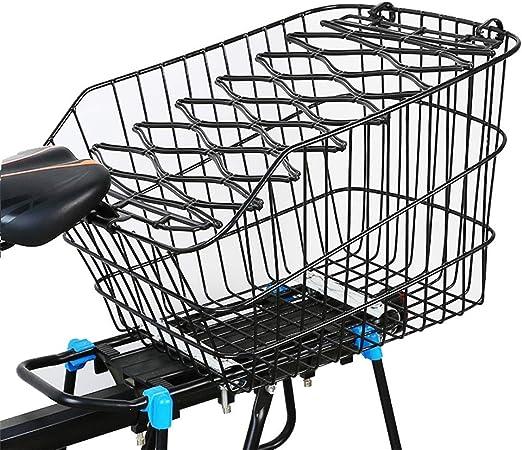 Cesta de bicicleta grande Almohadillas de metal para compras de ...