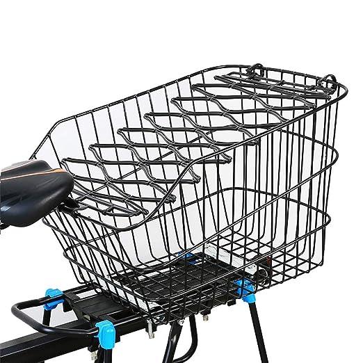 Cesta de Bicicleta Delantera, Almohadillas de Metal para Compras ...