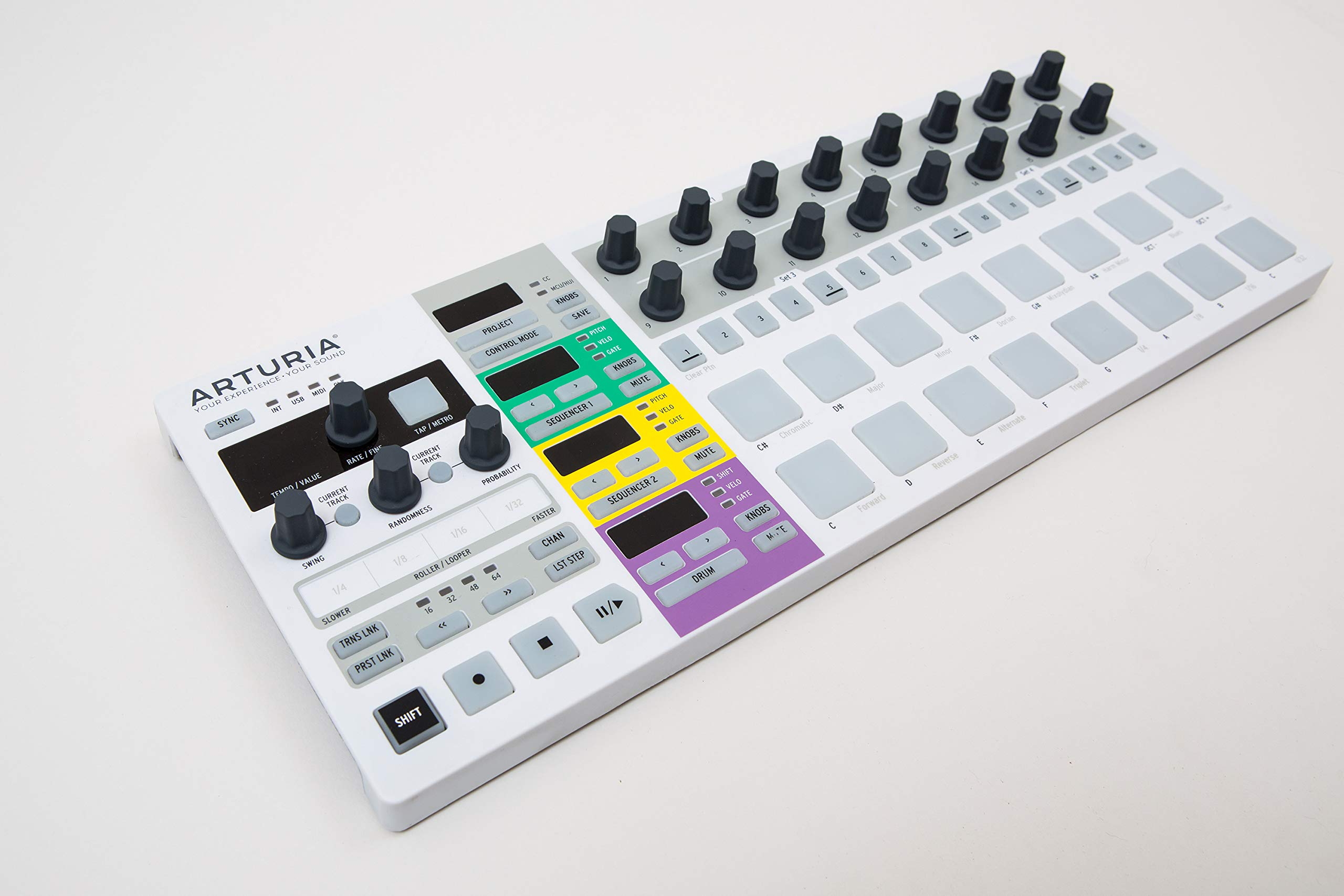 Arturia BeatStep Pro Controller and Sequencer, white, S by Arturia