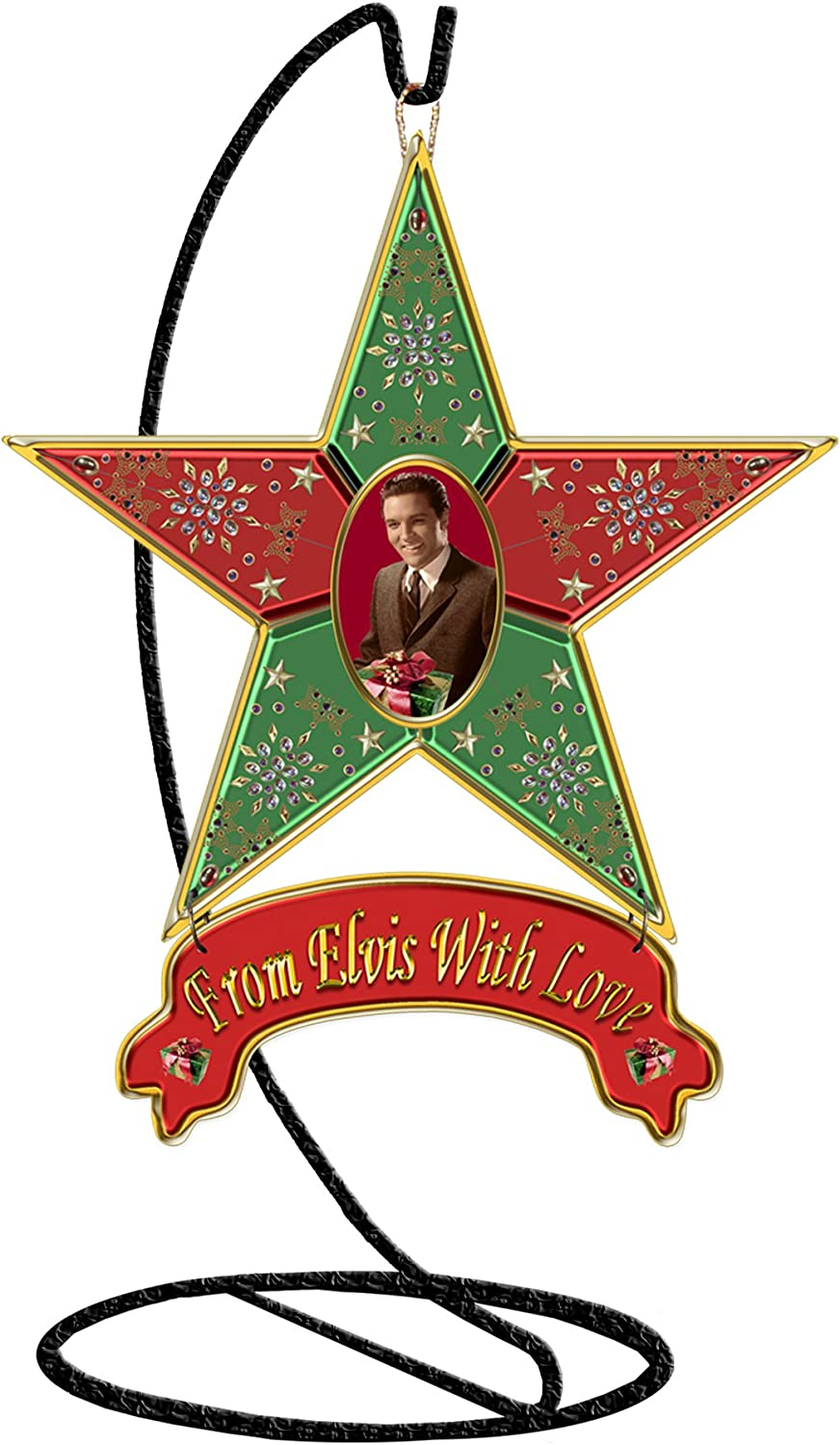 The Craft Room 30007 Freeform Designs From Elvis with Love, Elvis Mini Star 6-Inch by 5-Inch Licensed Elvis Resin Star