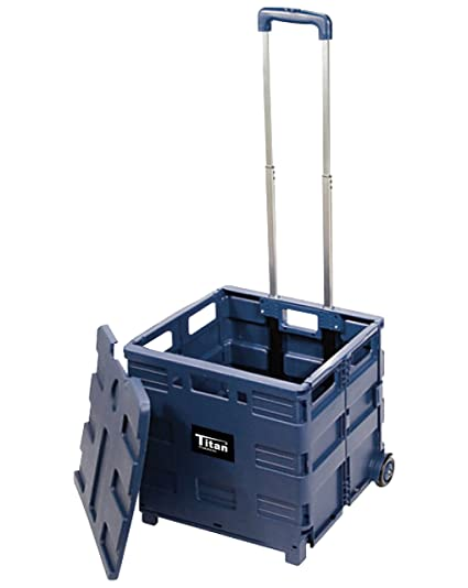 Incroyable Titan Products Versatile Folding Storage Cart With Wheels (TCC604)