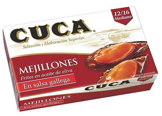 Cuca - Mejillones A La Gallega 12/16 Piezas -65 Grams- [Pack
