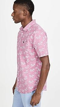 RVCA Easy Palms Camisa con botones para hombre - Rosa - Small: Amazon.es: Ropa y accesorios